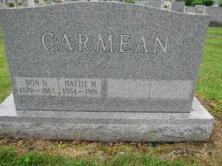 CARMEAN, HATTIE M. - Union County, Ohio | HATTIE M. CARMEAN - Ohio Gravestone Photos
