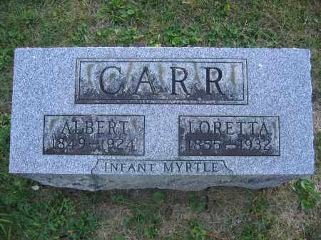 CARR, ALBERT - Union County, Ohio | ALBERT CARR - Ohio Gravestone Photos