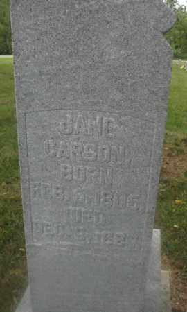 CARSON, JANE - Union County, Ohio | JANE CARSON - Ohio Gravestone Photos