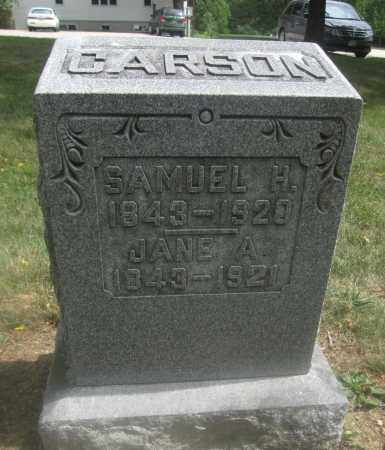 CARSON, SAMUEL H. - Union County, Ohio | SAMUEL H. CARSON - Ohio Gravestone Photos