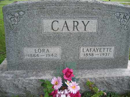 CARY, LORA - Union County, Ohio | LORA CARY - Ohio Gravestone Photos