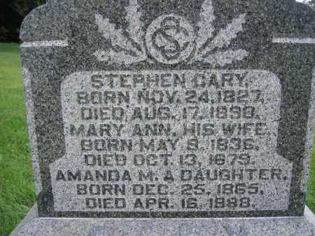 CARY, AMANDA M. - Union County, Ohio | AMANDA M. CARY - Ohio Gravestone Photos