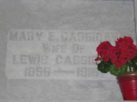 CASSIDAY, MARY E. - Union County, Ohio | MARY E. CASSIDAY - Ohio Gravestone Photos