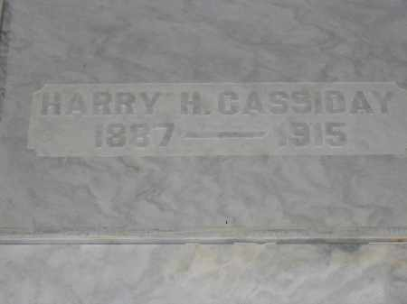 CASSIDAY, HARRY H. - Union County, Ohio | HARRY H. CASSIDAY - Ohio Gravestone Photos