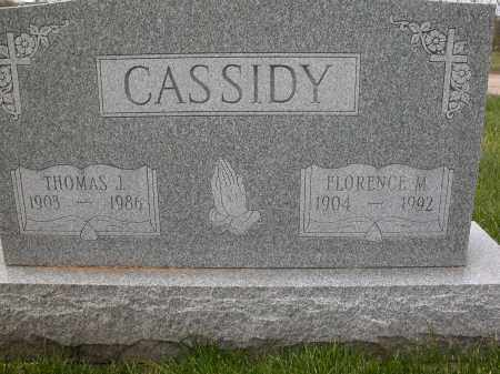 CASSIDY, FLORENCE M. - Union County, Ohio | FLORENCE M. CASSIDY - Ohio Gravestone Photos