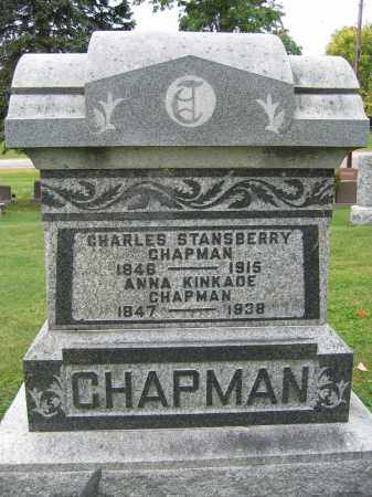 CHAPMAN, CHARLES STANSBERRY - Union County, Ohio | CHARLES STANSBERRY CHAPMAN - Ohio Gravestone Photos
