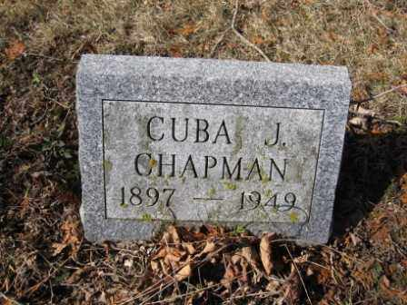 CHAPMAN, CUBA J. - Union County, Ohio   CUBA J. CHAPMAN - Ohio Gravestone Photos