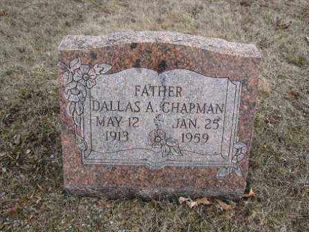 CHAPMAN, DALLAS A. - Union County, Ohio | DALLAS A. CHAPMAN - Ohio Gravestone Photos