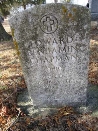 CHAPMAN, EDWARD BENJAMIN - Union County, Ohio | EDWARD BENJAMIN CHAPMAN - Ohio Gravestone Photos