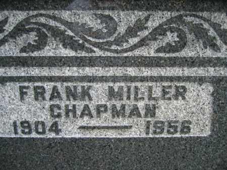 CHAPMAN, FRANK MILLER - Union County, Ohio | FRANK MILLER CHAPMAN - Ohio Gravestone Photos