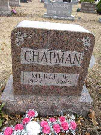 CHAPMAN, MERLE W. - Union County, Ohio | MERLE W. CHAPMAN - Ohio Gravestone Photos