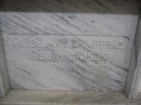 CHAPPELL, ALICE ANN - Union County, Ohio | ALICE ANN CHAPPELL - Ohio Gravestone Photos