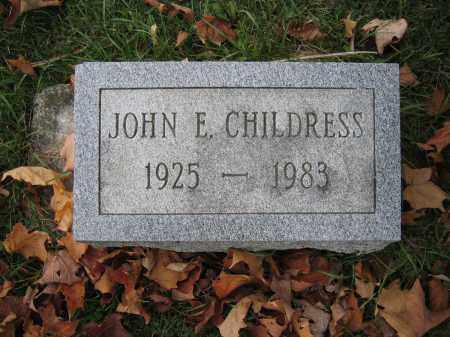 CHILDRESS, JOHN E. - Union County, Ohio | JOHN E. CHILDRESS - Ohio Gravestone Photos