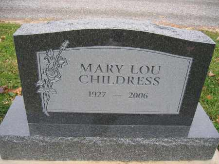 CHILDRESS, MARY LOU - Union County, Ohio | MARY LOU CHILDRESS - Ohio Gravestone Photos
