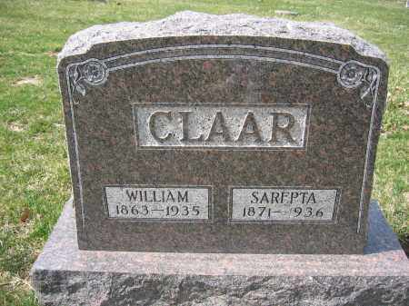 CLAAR, SARFPTA - Union County, Ohio | SARFPTA CLAAR - Ohio Gravestone Photos