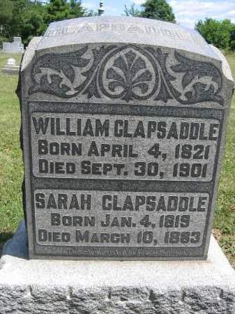 CLAPSADDLE, WILLIAM - Union County, Ohio | WILLIAM CLAPSADDLE - Ohio Gravestone Photos