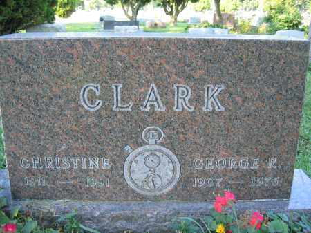 CLARK, CHRISTINE - Union County, Ohio | CHRISTINE CLARK - Ohio Gravestone Photos