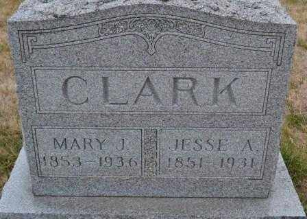 CLARK, MARY J. - Union County, Ohio | MARY J. CLARK - Ohio Gravestone Photos