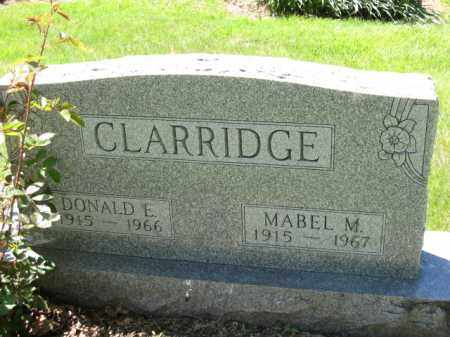 CLARRIDGE, MABEL M. - Union County, Ohio | MABEL M. CLARRIDGE - Ohio Gravestone Photos