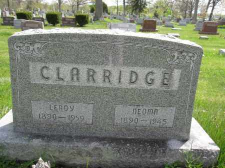CLARRIDGE, LEROY - Union County, Ohio | LEROY CLARRIDGE - Ohio Gravestone Photos