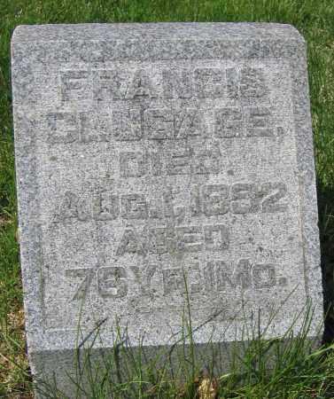 CLUGAGE, FRANCIS - Union County, Ohio   FRANCIS CLUGAGE - Ohio Gravestone Photos