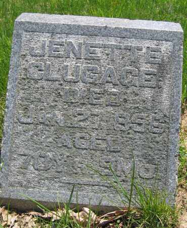 CLUGAGE, JENETTE - Union County, Ohio | JENETTE CLUGAGE - Ohio Gravestone Photos