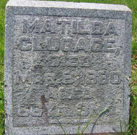 CLUGAGE, MATILDA - Union County, Ohio | MATILDA CLUGAGE - Ohio Gravestone Photos