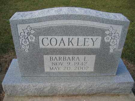 COAKLEY, BARBARA L. - Union County, Ohio | BARBARA L. COAKLEY - Ohio Gravestone Photos