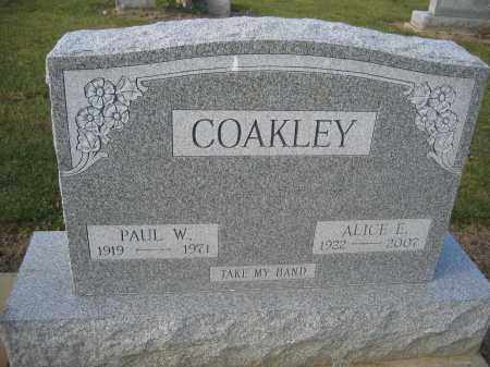 COAKLEY, PAUL W. - Union County, Ohio | PAUL W. COAKLEY - Ohio Gravestone Photos