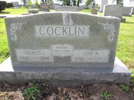 COCKLIN, JUNE M. - Union County, Ohio | JUNE M. COCKLIN - Ohio Gravestone Photos