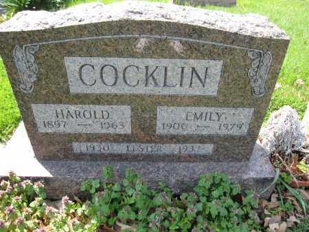 COCKLIN, EMILY - Union County, Ohio | EMILY COCKLIN - Ohio Gravestone Photos