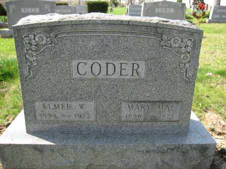 CODER, MARY MAE - Union County, Ohio | MARY MAE CODER - Ohio Gravestone Photos