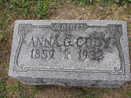 CODY, ANNA GRADY - Union County, Ohio | ANNA GRADY CODY - Ohio Gravestone Photos
