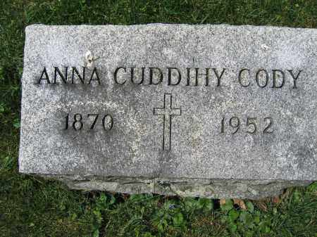CODY, ANNA CUDDIHY - Union County, Ohio | ANNA CUDDIHY CODY - Ohio Gravestone Photos