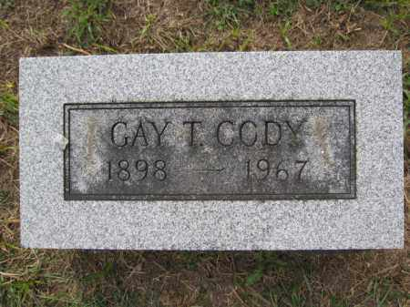 CODY, GAY T. - Union County, Ohio | GAY T. CODY - Ohio Gravestone Photos