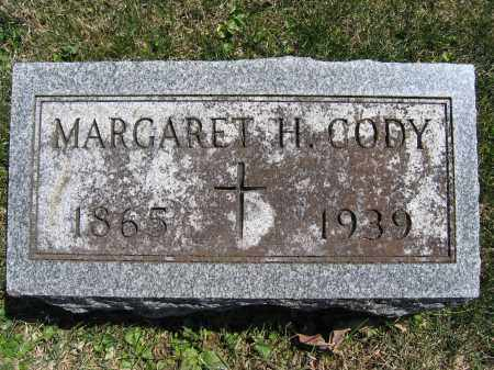CODY, MARGARET H. - Union County, Ohio | MARGARET H. CODY - Ohio Gravestone Photos