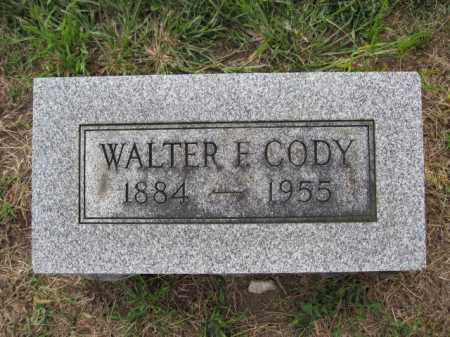 CODY, WALTER F. - Union County, Ohio | WALTER F. CODY - Ohio Gravestone Photos