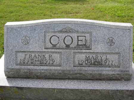 COE, MARY L. - Union County, Ohio | MARY L. COE - Ohio Gravestone Photos