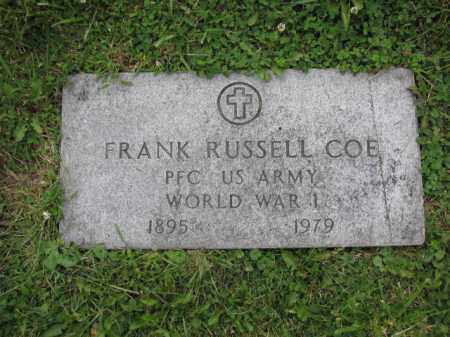 COE, FRANK RUSSELL - Union County, Ohio | FRANK RUSSELL COE - Ohio Gravestone Photos