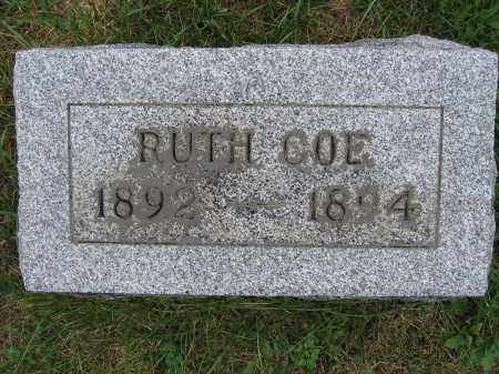 COE, RUTH - Union County, Ohio | RUTH COE - Ohio Gravestone Photos