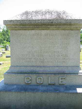 COLE, JESSIE - Union County, Ohio | JESSIE COLE - Ohio Gravestone Photos