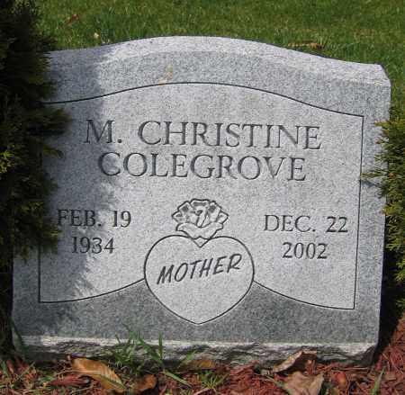 COLEGROVE, M. CHRISTINE - Union County, Ohio | M. CHRISTINE COLEGROVE - Ohio Gravestone Photos