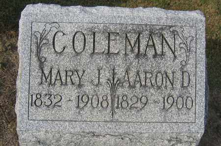 COLEMAN, MARY J. - Union County, Ohio | MARY J. COLEMAN - Ohio Gravestone Photos