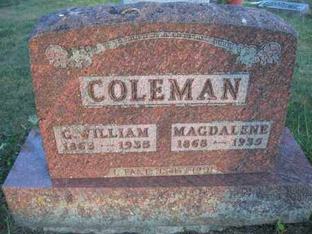 COLEMAN, MAGDALENE - Union County, Ohio | MAGDALENE COLEMAN - Ohio Gravestone Photos