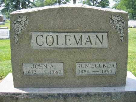 COLEMAN, KUNIEGUNDA - Union County, Ohio | KUNIEGUNDA COLEMAN - Ohio Gravestone Photos
