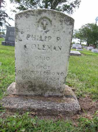 COLEMAN, PHILIP P. - Union County, Ohio | PHILIP P. COLEMAN - Ohio Gravestone Photos