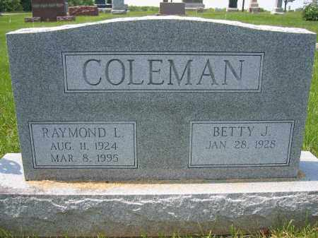 COLEMAN, BETTY J. - Union County, Ohio | BETTY J. COLEMAN - Ohio Gravestone Photos