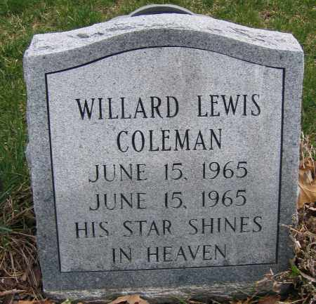 COLEMAN, WILLARD LEWIS - Union County, Ohio | WILLARD LEWIS COLEMAN - Ohio Gravestone Photos
