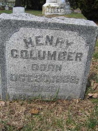 COLUMBER, HENRY - Union County, Ohio | HENRY COLUMBER - Ohio Gravestone Photos