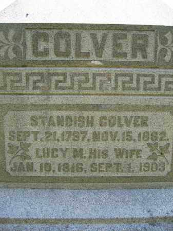 COLVER, STANDISH - Union County, Ohio | STANDISH COLVER - Ohio Gravestone Photos